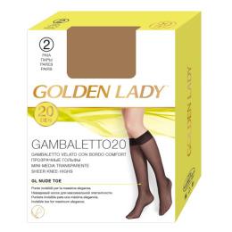 """Golden Lady гольфы """"Gambaletto  20d"""" 2 пары, melon"""