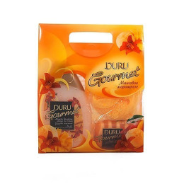 """Duru набор """"Манговое мороженое""""гель для душа 250 мл + мыло 90 г + мочалка"""