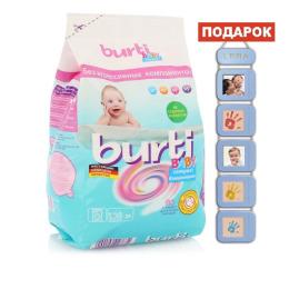 """Burti концентрированный стиральный порошок Compact Baby"""" для детского белья 0,9кг + """"Ростомер"""" детский"""""""