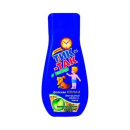 """Тик-так детская пенка """"Тик-так"""" для мытья волос и тела, зеленое яблоко с пшеницей"""