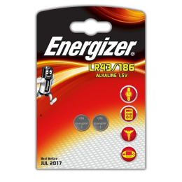 Energizer батарейка алкалиновая LR43/186 FSB2 1.5V