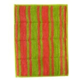 Rainbow Home салфетка двусторонняя с абразивным покрытием 17х23 разноцветная полоска розовая зеленая
