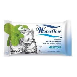 """Waterflow салфетки универсальные """"Ментол"""" влажные освежающие"""