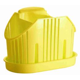 """Пластик центр сушилка для столовых приборов 3х-секционная """"Лимон"""""""