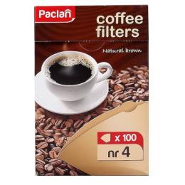 Paclan фильтры для кофеварок небеленые р-р 4, 100 шт