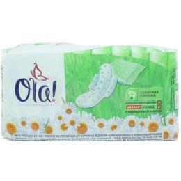 """Ola прокладки """"Wings Classic Normal Singles"""" в индивидуальной упаковке с крылышками """"Солнечная ромашка"""""""
