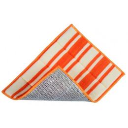 Rainbow Home салфетка двусторонняя с абразивным покрытием 17х23 разноцветная полоска оранжевая кремовая