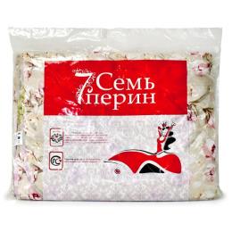 7 Перин одеяло стеганое всесезонное шерсть овечья 205х140 микрофибра в пакете п/э
