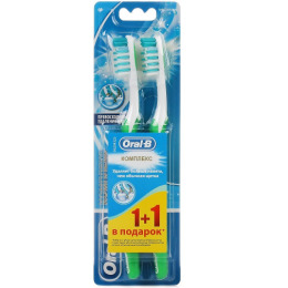 """Oral-B зубная щетка """"Комплекс. Глубокая Чистка"""" средняя 1+1шт"""