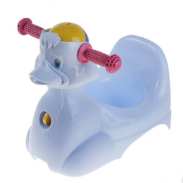 """Little Angel горшок-игрушка """"Уточка"""" голубой пастельный"""
