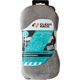 Clean Race губка ультрамягкая из микрофибры