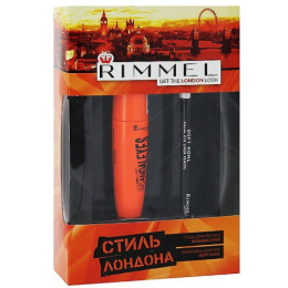 """Rimmel тушь для ресниц """"Scandaleyes Lycra Flex Mascara"""" 001 + мягкий контурный карандаш для век """"Soft Kohl"""" 061"""