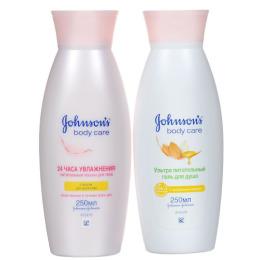 """Johnson`s набор гель для душа """"Ультра питательный"""" с миндальным маслом 250 мл + лосьон для тела с миндальным маслом 250 мл"""