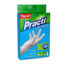 "Paclan перчатки ""Practi"" латексные размер S"