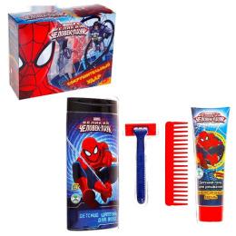 """Spider-man подарочный набор """"Человек-паук. Сокрушительный удар"""" шампунь 250 мл, гель для умывания 100 мл, игрушка, расческа"""