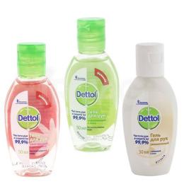 Dettol гель для рук антибактериальный 3х50 мл 1 упаковка