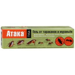 Атака гель от тараканов и муравьев туба