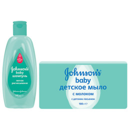"""Johnson`s baby набор шампунь """"Легкое расчесывание"""" 300 мл + мыло """"Детское"""" с молоком, 100 г"""