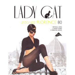 "Lady Cat леггинсы ""Florence. 80"" антрацит"