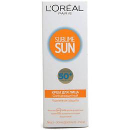 "L'Oreal солнцезащитный крем для лица ""Sublime Sun"" SPF 50"