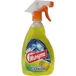 """Минута средство для мытья стекол """"Лимон"""" с курком"""