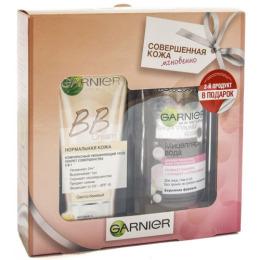 """Garnier набор """"Основной уход"""": BB крем """"Секрет Совершенства"""" для жирной кожи 40 мл + мицеллярная вода для чувствительной кожи, 125 мл"""