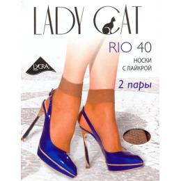 """Lady Cat носки """"Rio. 40"""" лайкра дымчатый 2 пары"""