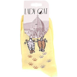 "Lady Cat носки ""М 3002 10"" желтый"