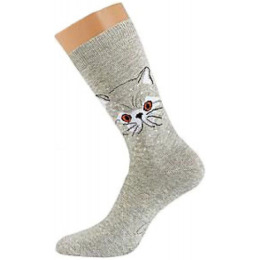 "Griff носки женские ""D0С3"" кот Grigio Scuro"
