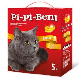 """Pi-Pi-Bent наполнитель для котят, комкующийся """"Банан"""" в коробке"""