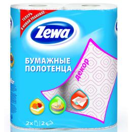 "Zewa полотенца кухонные ""Декор"" 2-х слойные, 2 шт"
