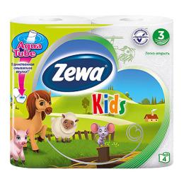 "Zewa туалетная бумага ""Детская"" 3 слойная, 4 шт"