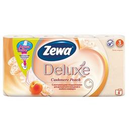 "Zewa туалетная бумага ""Делюкс"" 3 слойная с ароматом персика, 8 шт"