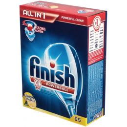 "finish средство для мытья посуды в посудомоечных машинах ""All in1. Лимон"" в таблетках"