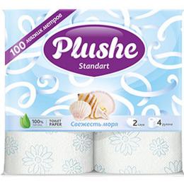 "Plushe туалетная бумага ""Standart New. Морская свежесть"" 2слоя, 23 м"