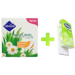 """Libresse прокладки ежедневные """"Natural Care. Normal"""" + платки носовые """"Делюкс"""" 3-ех слойные"""