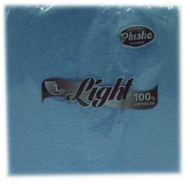 """Plushe салфетки """"Light Super 100 голубая/пастель, 1 слой"""