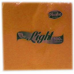 "Plushe салфетки ""Light Super 100"" абрикос/пастель, 1 слой"