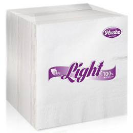 """Plushe салфетки """"Light Super 100"""" белая/пастель, 1 слой"""