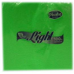 "Plushe салфетки ""Light Super 100"" салат/пастель, 1 слой"