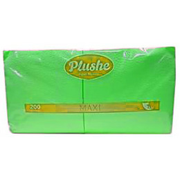 "Plushe салфетки ""Maxi 200"" салат/пастель, 1 слой"