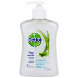 """Dettol мыло для рук жидкое """"Увлажнение. С декоративным элементом Д, алое вера и молочными протеинами"""" антибактериальное"""