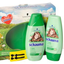 Schauma набор с миниками в прозрачной косметичке