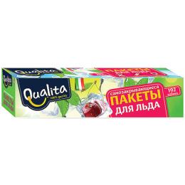 Qualita пакетики для льда самозакрывающиеся в коробке на 192 кубика