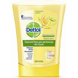 """Dettol антибактериальное жидкое мыло запасной блок для диспенсера """"С ароматом Цитруса. No Touch"""""""