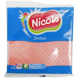 """Nicols губчатая салфетка """"Power"""" 3шт абразивный слой"""