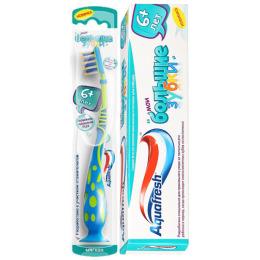 """Aquafresh зубная паста детская """"Мои большие зубки"""" 6 лет 50мл + зубная щетка """"Мои большие зубки"""" 6-9 раскраска"""