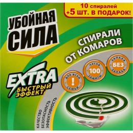 """Убойная Сила спирали от комаров """"Extra"""""""