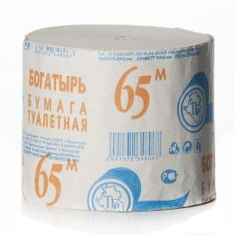"Plushe туалетная бумага ""Богатырь"" серая без втулки, 1 слой"