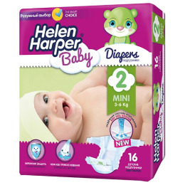 "Helen Harper подгузники ""Baby Mini"" 3-6 кг"